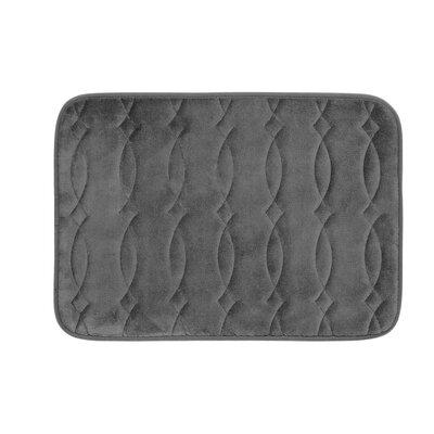 "Kirkwood Plush Memory Foam Bath Mat Color: Dark Grey, Size: 17"" W x 24"" L"