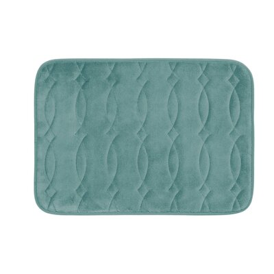 "Kirkwood Plush Memory Foam Bath Mat Color: Marine Blue, Size: 20"" W x 34"" L"