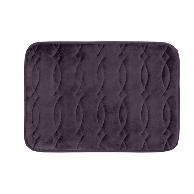 "Kirkwood Plush Memory Foam Bath Mat Color: Plum, Size: 17"" W x 24"" L"