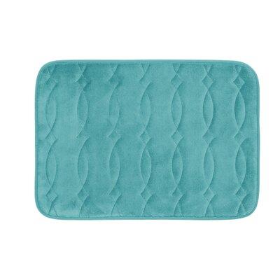 "Kirkwood Plush Memory Foam Bath Mat Color: Turquoise, Size: 17"" W x 24"" L"