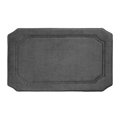 "Goodfield Micro Plush Memory Foam Bath Mat Size: 17"" W x 24"" L, Color: Dark Grey"