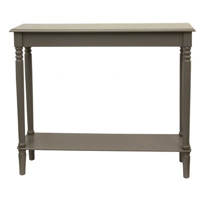 Adeline Console Table Color: Eased Edge Gray