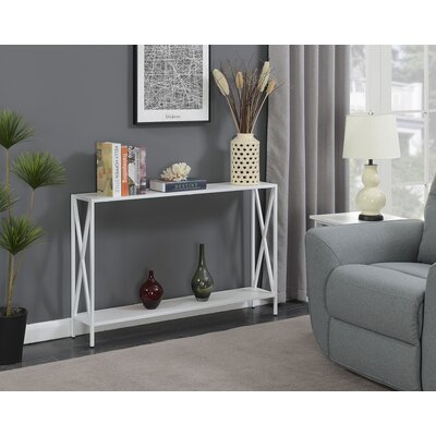 Abbottsmoor Metal Frame Console Table Color: White