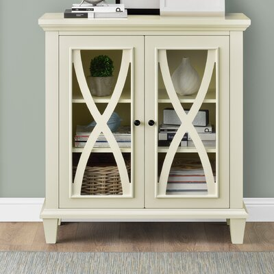 Rosendale 2 Door Accent Cabinet Color: Cream
