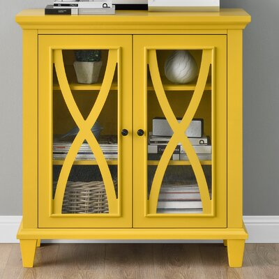 Rosendale 2 Door Accent Cabinet Color: Yellow