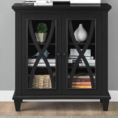 Rosendale 2 Door Accent Cabinet Color: Black