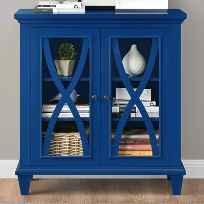 Rosendale 2 Door Accent Cabinet Color: Blue