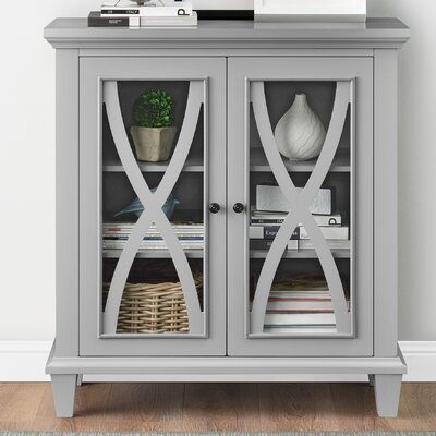 Rosendale 2 Door Accent Cabinet Color: Gray