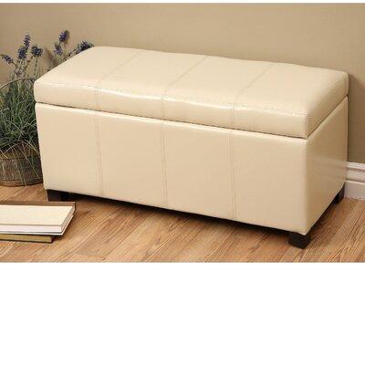 Borchardt Upholstered Storage Bench Color: Ivory