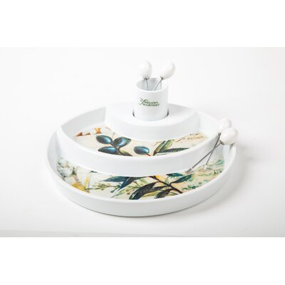 IC Innovations 24cm Olive Serving Plate with Sticks in White