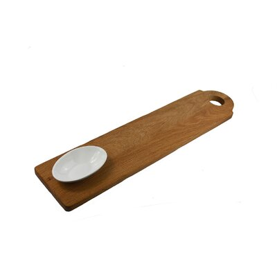 IC Innovations Occasion 65cm Vintage Oak Baguette Board with Oval Dish