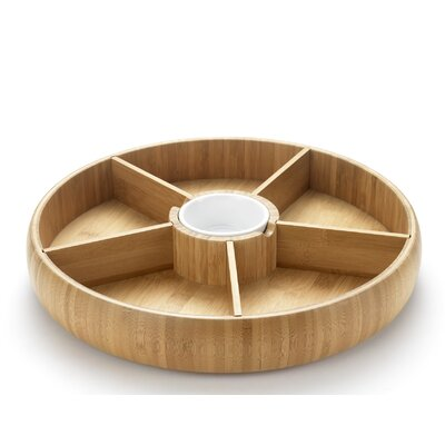 IC Innovations Occasion 35cm Bamboo Rotating Chip and Dip Platter