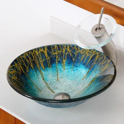 Enchantment Glass Circular Vessel Bathroom Sink Drain Finish: Brushed Nickel