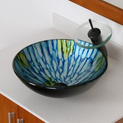 Double Layered Glass Circular Vessel Bathroom Sink Drain Finish: Oil Rubbed Bronze