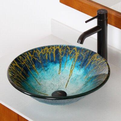 Enchantment Glass Circular Vessel Bathroom Sink Drain Finish: Oil Rubbed Bronze