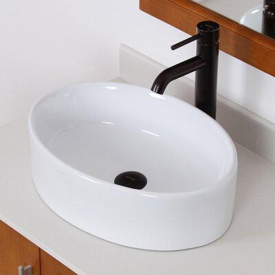 Ceramic Oval Vessel Bathroom Sink Drain Finish: Oil Rubbed Bronze