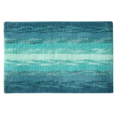 Portico Bath Rug Color: Blue