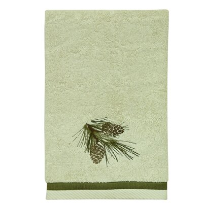 Pine Cone Terry Cloth Hand Towel