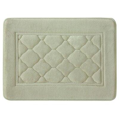 "Microban Florence Memory Foam Bath Rug Size: 17"" W x 24"" L, Color: Linen"