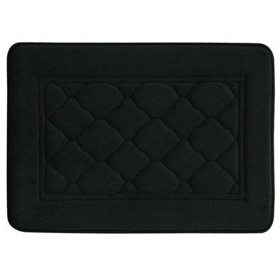 "Microban Florence Memory Foam Bath Rug Size: 17"" W x 24"" L, Color: Black"