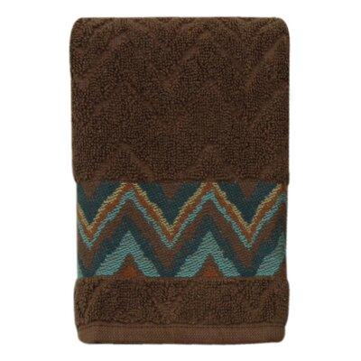 Charee Zigzag 100% Cotton Fingertip Towel
