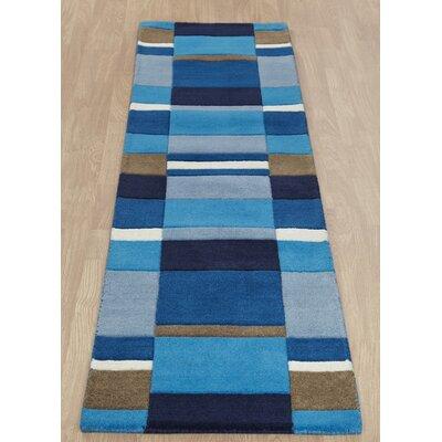 Caracella Handgearbeiteter Teppich Jazz in Blau