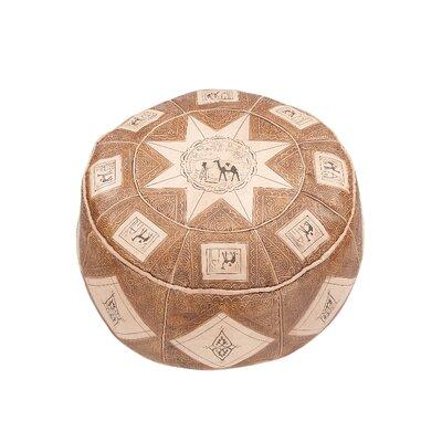 Caracella Pouf Al-Mansura aus Leder