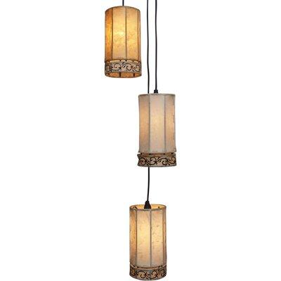 Caracella Kaskaden-Pendelleuchte 3-flammig Oriental Lights