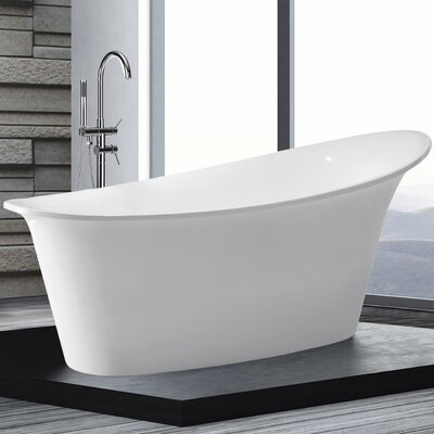 Home & Haus Haiti 175cm x 90cm Freestanding Soaking Bath Tub