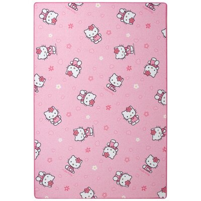 Caracella Kinderteppich Hello Kitty in Pink