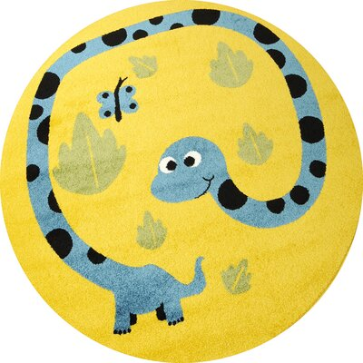 Caracella Kinderteppich Happy Friends in Gelb