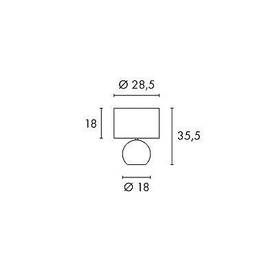 Caracella 35,5 cm Tischleuchte Solid