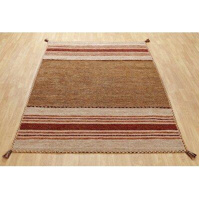 Caracella Handgewebter Teppich Kelim in Rost