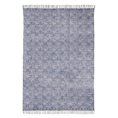 Caracella Teppich Murray in Blau/ Creme