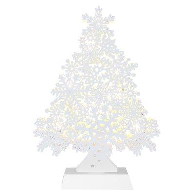 Caracella LED-Fensterleuchter Snowflake Tree