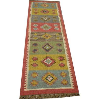 Caracella Handgewebter Teppich Juhi in Bunt