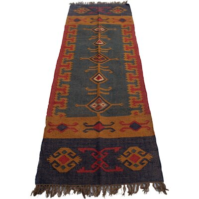 Caracella Handgefertigter Kelimteppich Kalini in Orange