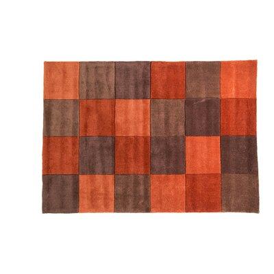 Caracella Handgetufteter Teppich Infinite in Rost/ Schokoladenbrau
