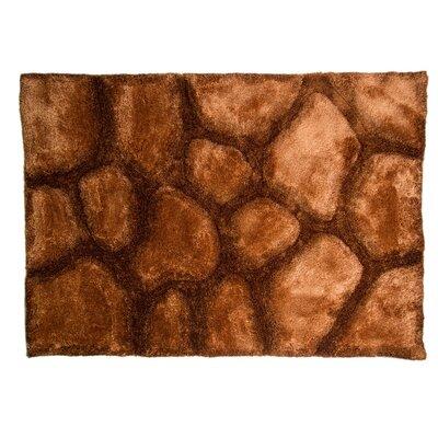 Caracella Handgefertigter Teppich Rand Brook in Braun