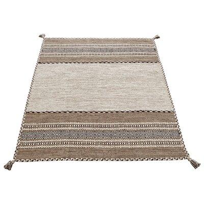 Caracella Handgewebter Teppich Kelim in Beige