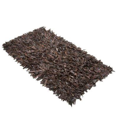 Caracella Handgefertigter Shaggy-Teppich Mut in Braun