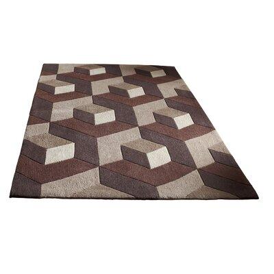 Caracella Handgefertigter Teppich Hong Kong in Beige/ Braun