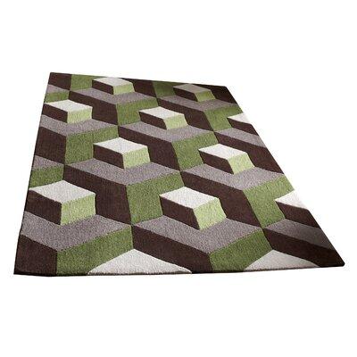 Caracella Handgefertigter Teppich Hong Kong in Braun