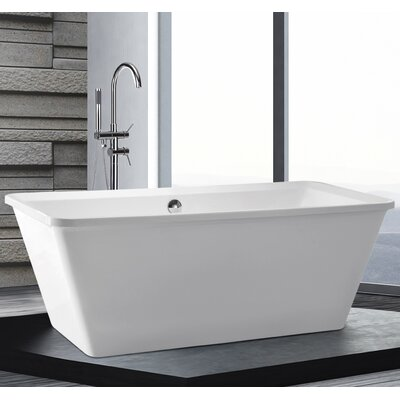 Home & Haus Aruba 170cm x 79cm Freestanding Soaking Bath Tub