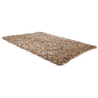 Caracella Handgearbeiteter Teppich Mut in Beige