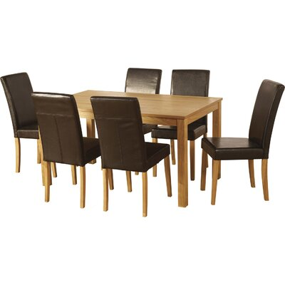 Andover Mills Delaney Dining Table and 6 Chairs