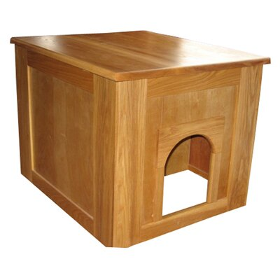 Flat Panel Litter Box Concealment Cabinet Finish: Cherry, Side Opening: Right