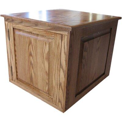 Murdoch Raised Panel Litter Box Concealment Cabinet Finish: Medium Walnut, Side Opening: Right