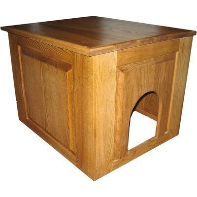 Murdoch Raised Panel Litter Box Concealment Cabinet Finish: Cherry, Side Opening: Right