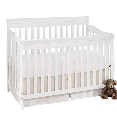 Big Oshi Stephanie 4-in-1 Convertible Crib with Mattress Color: White